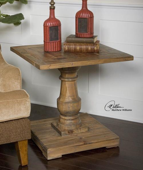 Uttermost Stratford Pedestal End Table