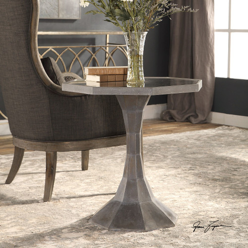 Uttermost Aharon Octagonal Lamp Table