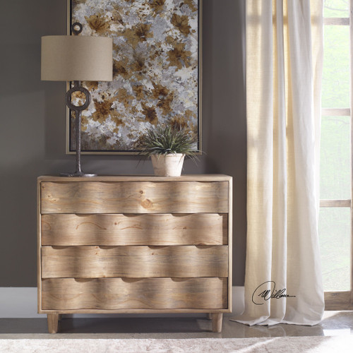 Uttermost Crawford Light Oak Accent Chest
