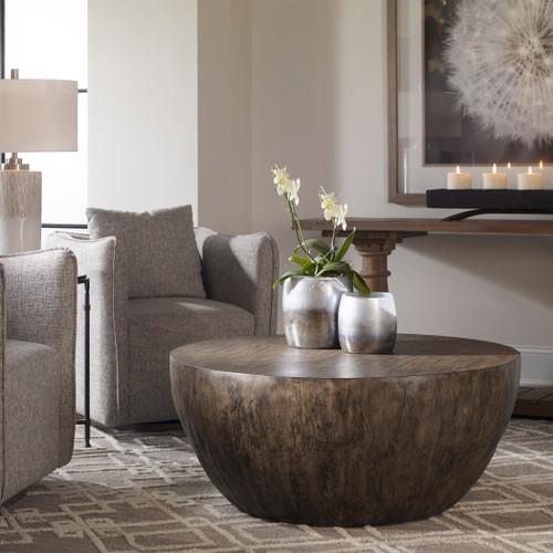 Uttermost Lark Round Wood Coffee Table