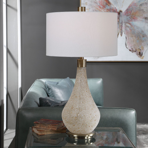 Uttermost Chaya Textured Cream Table Lamp