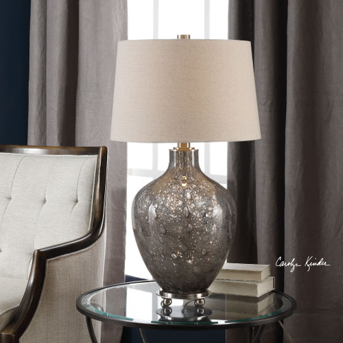 Uttermost Adria Transparent Gray Glass Lamp