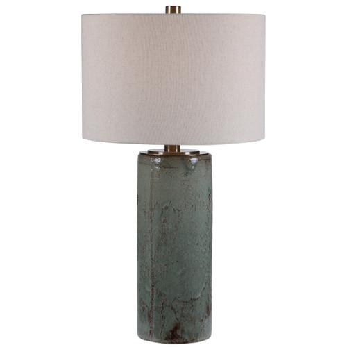 Uttermost Callais Crackled Aqua Table Lamp