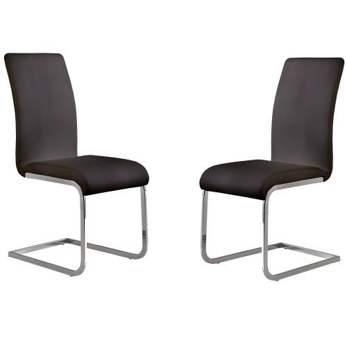 Armen Living Amanda Black Side Chair - Set of 2