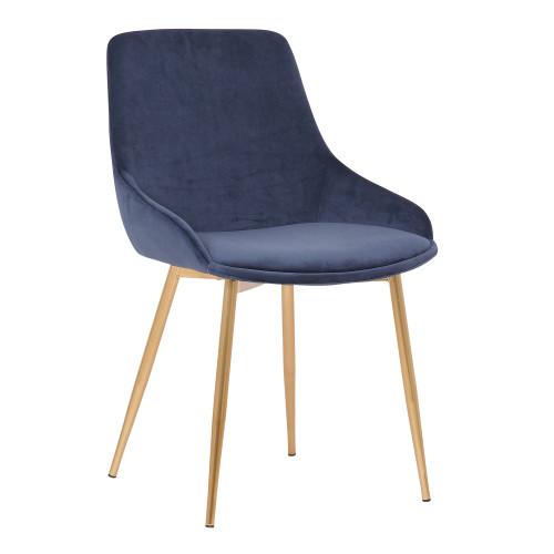 Heidi Blush Velvet Dining Accent Chair