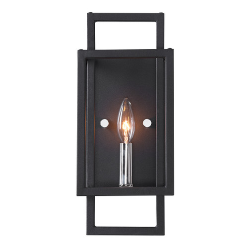 Uttermost Quadrangle 1 Light Black Sconce
