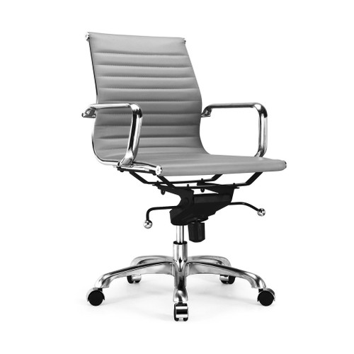 Design Lab MN LS-0007-GRYCRM Century Grey Office Chair Set of 2