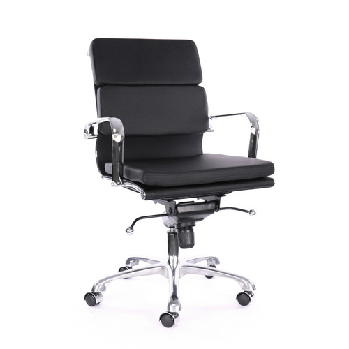 Design Lab MN LS-0008-1-BLKCRM Century Black Office Chair