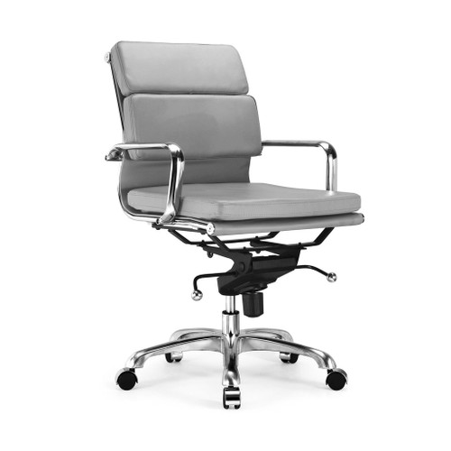 Design Lab MN LS-0008-GRYCRM Century Grey Office Chair Set of 2