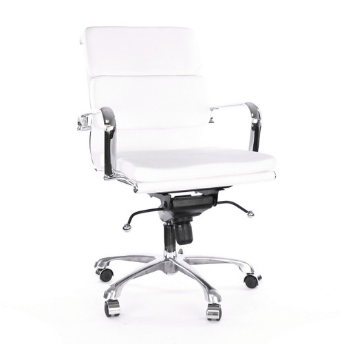 Design Lab MN LS-0008-WHTCRM Century White Office Chair Set of 2