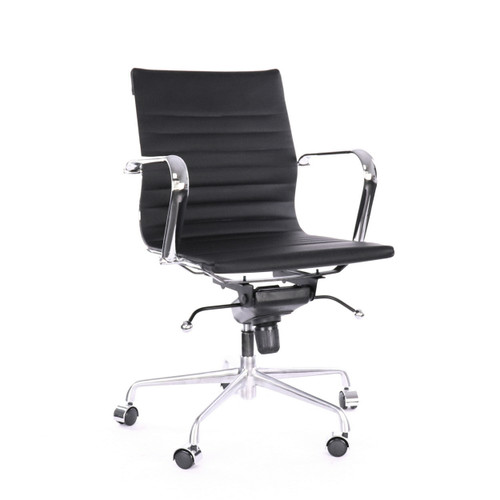 Design Lab MN LS-0009-1-BLKCRM Decade Black Office Chair
