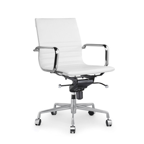 Design Lab MN LS-0009-WHTCRM Decade White Office Chair Set of 2