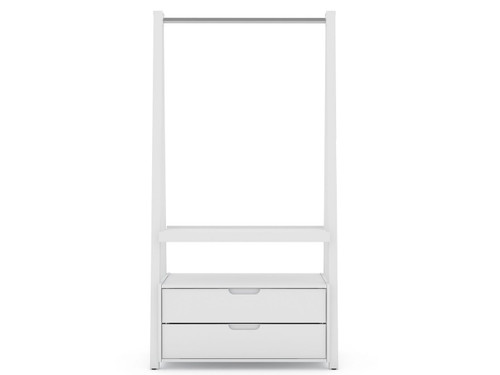 Manhattan Comfort Rockefeller Home Office Storage with 2 Drawers in White