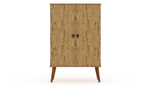 Manhattan Comfort Tribeca Mid-Century-Modern Accent Storage Cabinet with Adjustable Shelves in Black