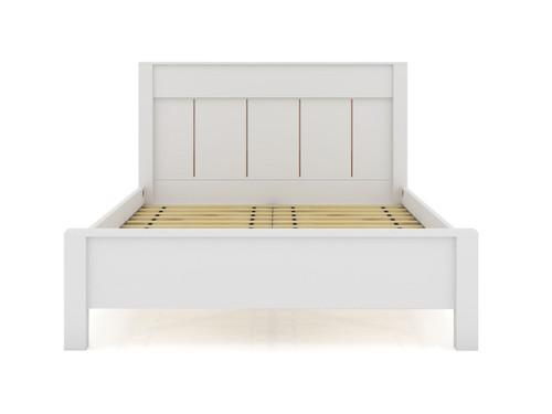Manhattan Comfort Gramercy Queen-size Modern Bedframe with Headboard in White