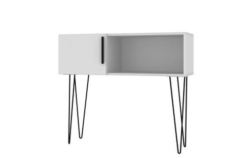 "Manhattan Comfort Mid-Century - Modern Nolita 35.43"" Entryway with 3 Shelves in White"