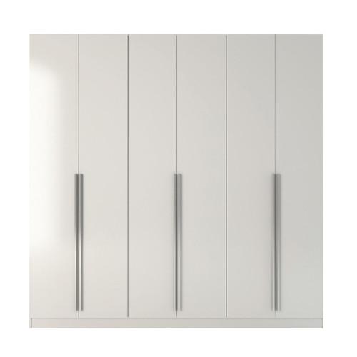Manhattan Comfort Eldridge 4- Drawer He/She Freestanding Armoire in White Gloss