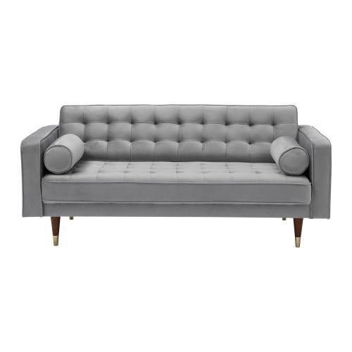 Somerset Grey Velvet Mid Century Modern Loveseat