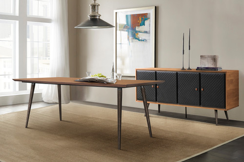 Coco Rustic 2 piece set with Dining Table and Sideboard in Balsamico