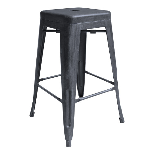 """Zed Industrial 26"""" Counter Height Backless Barstool in Industrial Grey"""