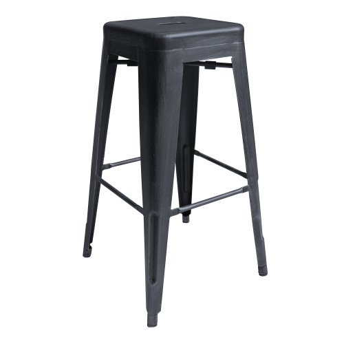 """Zed Industrial 30"""" Bar Height Backless Barstool in Industrial Grey"""