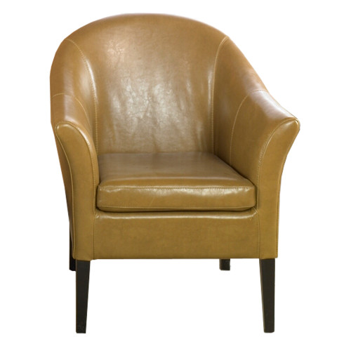 Armen Living 1404 Camel Leather Club Chair