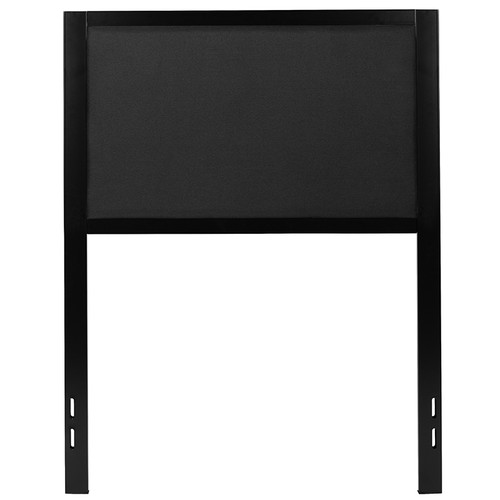 Melbourne Metal Upholstered Twin Size Headboard in Black Fabric [HG-HB1717-T-BK-GG]