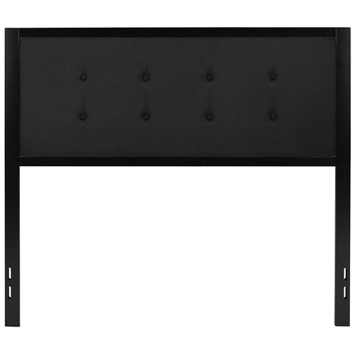 Bristol Metal Tufted Upholstered Full Size Headboard in Black Fabric [HG-HB1725-F-BK-GG]