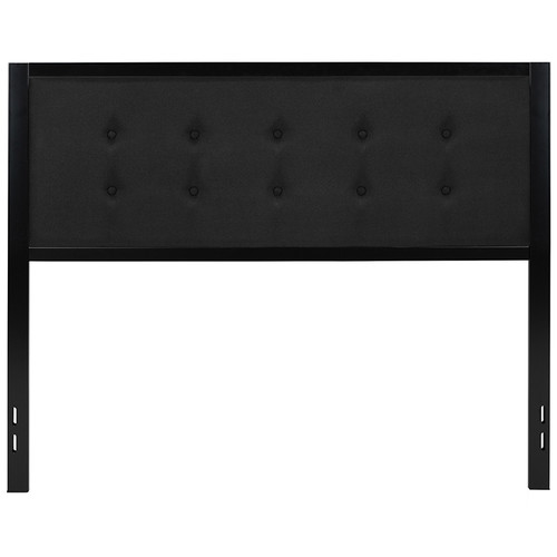 Bristol Metal Tufted Upholstered Queen Size Headboard in Black Fabric [HG-HB1725-Q-BK-GG]