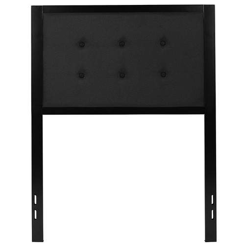 Bristol Metal Tufted Upholstered Twin Size Headboard in Black Fabric [HG-HB1725-T-BK-GG]