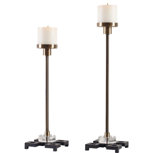 Uttermost Montag Brass Candleholders, S/2