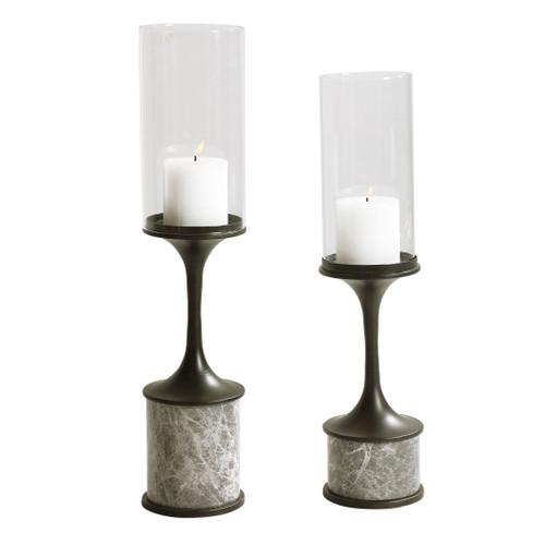 Uttermost Deane Marble Candleholders, S/2