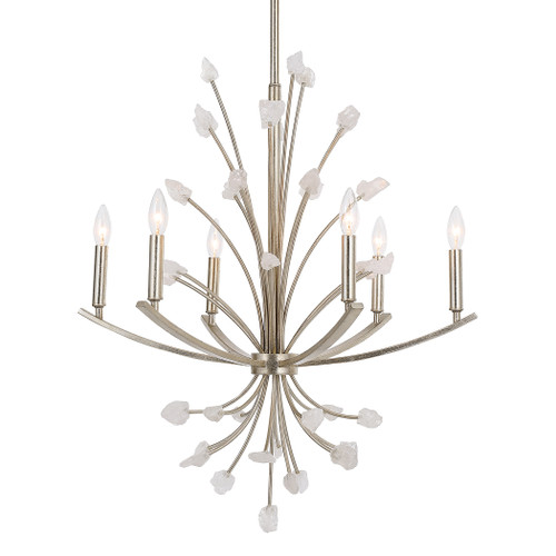 Uttermost Juliette 6 Light Silver Chandelier