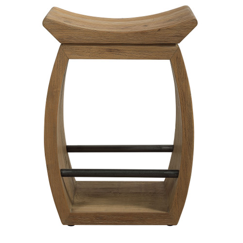 Uttermost Connor Modern Wood Counter Stool