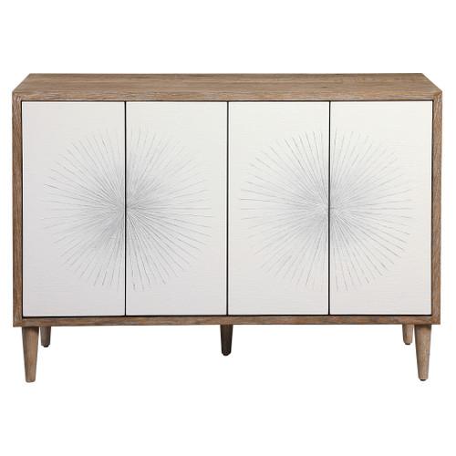Uttermost Dani 4 Door White Cabinet