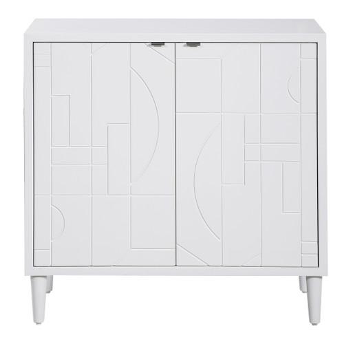 Uttermost Stockholm White 2 Door Cabinet
