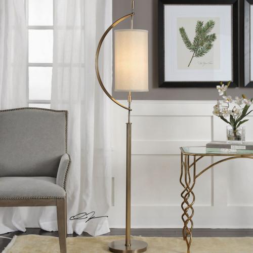 Uttermost Balaour Antique Brass Floor Lamp