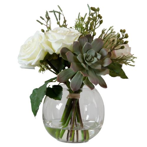 Uttermost Belmonte Floral Bouquet & Vase