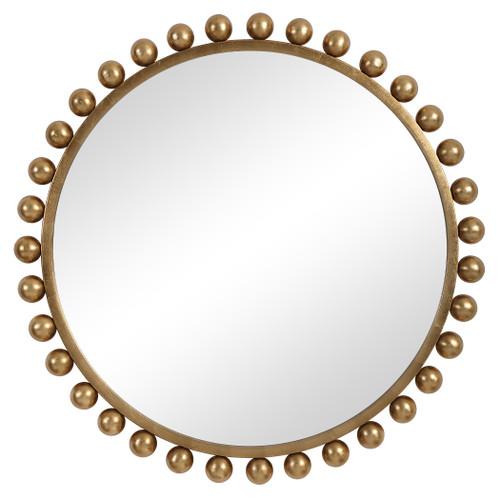 Uttermost Cyra Gold Round Mirror