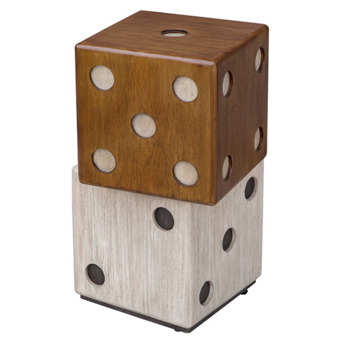 Uttermost Roll The Dice Accent Table