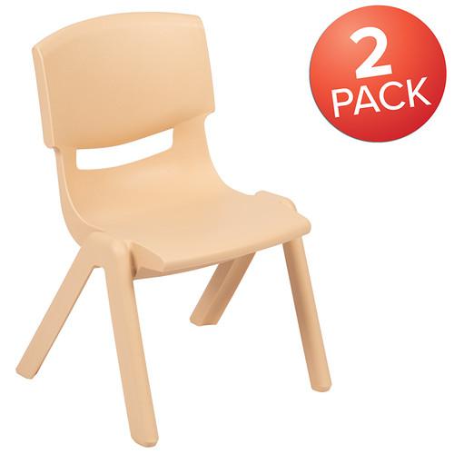 Set of 2 Plastic School Chairs