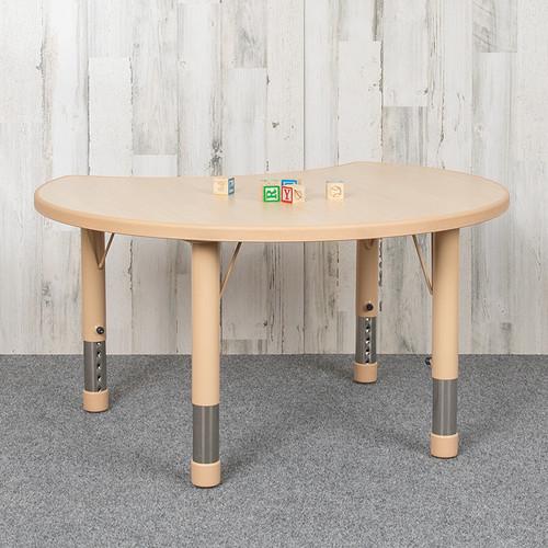 Crescent Classroom Table