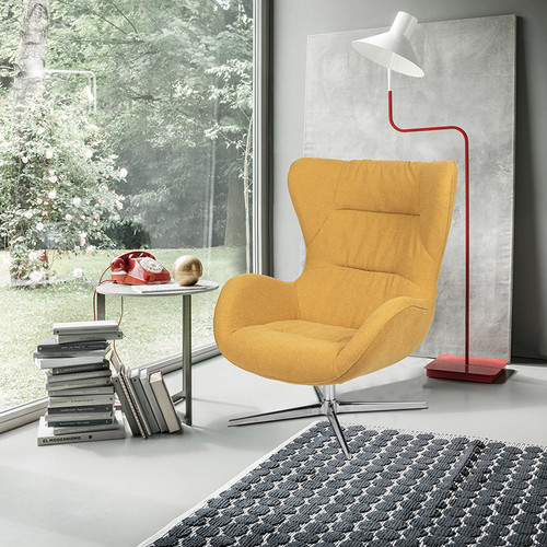Citron Fabric Swivel Wing Chair [ZB-WING-CIT-FAB-GG]