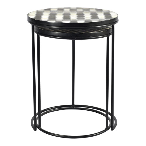 OPTIC NESTING TABLES SET OF TWO