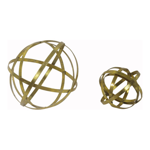 GOLD SPHERE SET OF TWO
