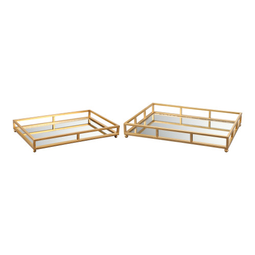 GRID TRAY RECTANGLE SET OF TWO