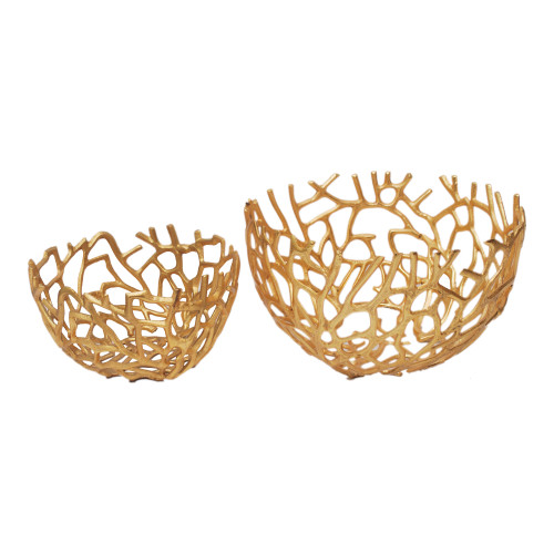 NEST BOWLS GOLD SET OF TWO