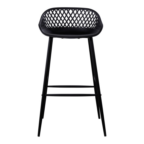 PIAZZA OUTDOOR BARSTOOL BLACK-SET OF TWO