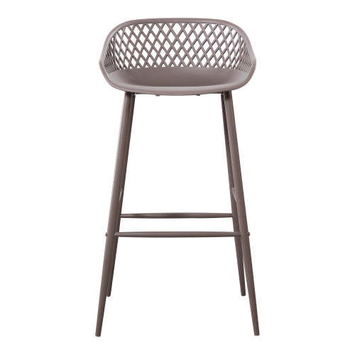 PIAZZA OUTDOOR BARSTOOL GREY-SET OF TWO