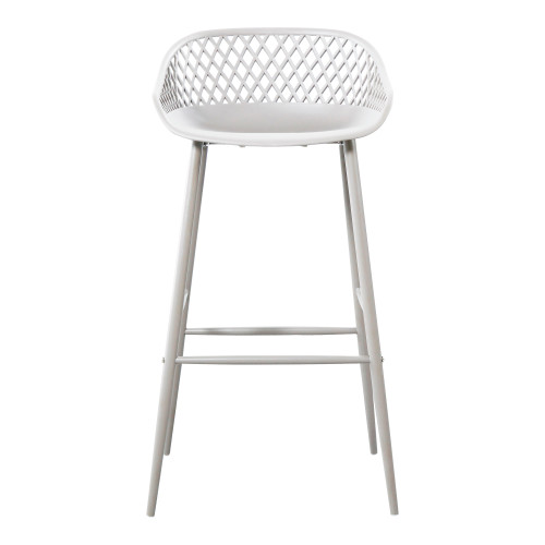 PIAZZA OUTDOOR BARSTOOL WHITE-SET OF TWO